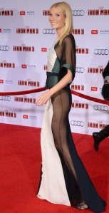 Gwyneth looking amazing in a daring side sheer dress!