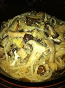 Mushroom Pasta at Midnight!