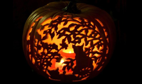 Pumpkin carving sparkaliciouswit for Cat carved into pumpkin