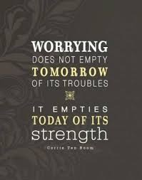 Worrying Doesn't Solve Anything, It just Tires you Out. So does Comparing yourself to others