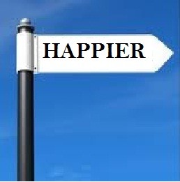 This Way to Happier Signpost